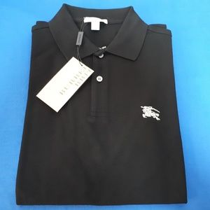 BURBERRY BRIT BLACK MEN POLO SHIRT